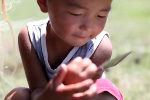 Mongolian nomadic child