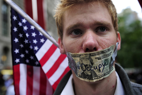 """Occupy Wall Street"" demonstrators occup"