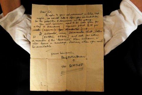 Britain Beatles Letter