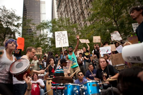 Occupy Wall Street drum circl
