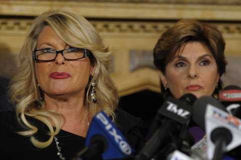 Gloria Allred and Sharon Bialek