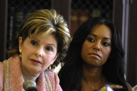 Gloria Allred and Melanie Brown