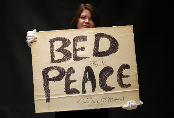 John Lennon And Yoko Ono S Peace Poster Sells For 154 000 Time Com