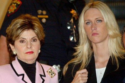Attorney Gloria Allred and Amber Frey