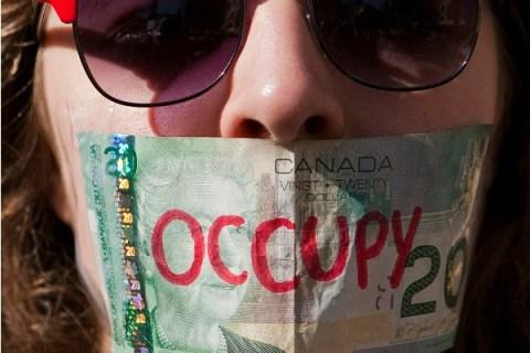 Occupy Vancouver protestor