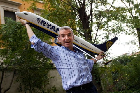 Michael O'Leary Attends Press Conference