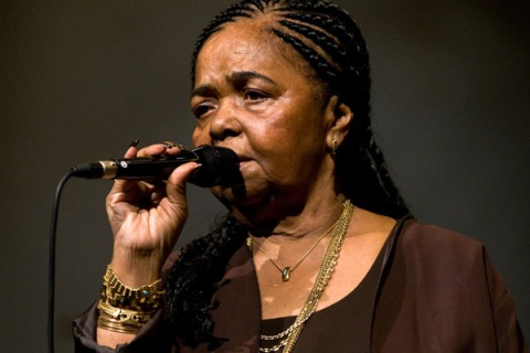 Cesaria Evora Performs At The Barbican Centre In London