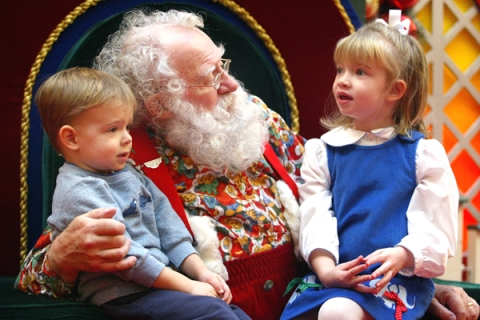 Santa Listens To Tots Christmas Lists