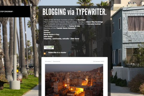 Blogging via Typewriter
