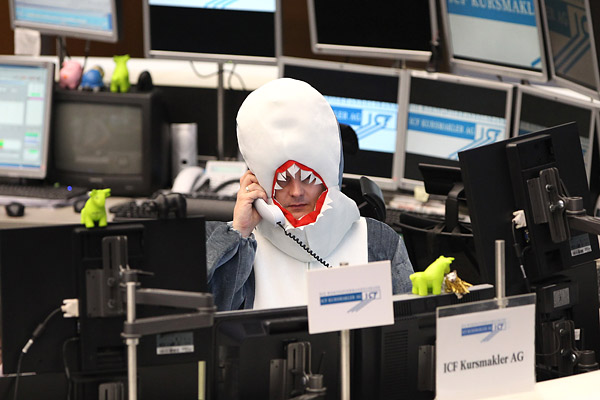 Costumed Traders at the German Stock Exchange