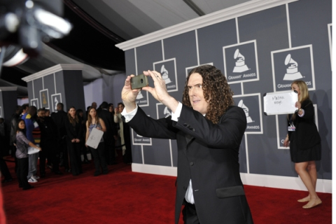 Al Yankovic arrives at the Staples Cente