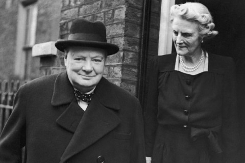Winston Churchill and his wife Clementine Churchill