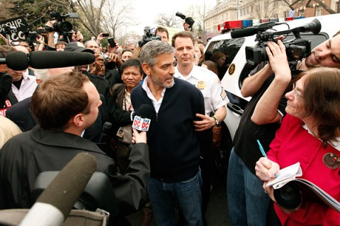 George Clooney Arrested For Protesting In D.C.