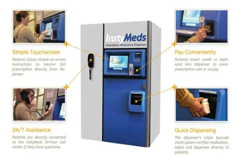 Vending machines dispense prescriptions