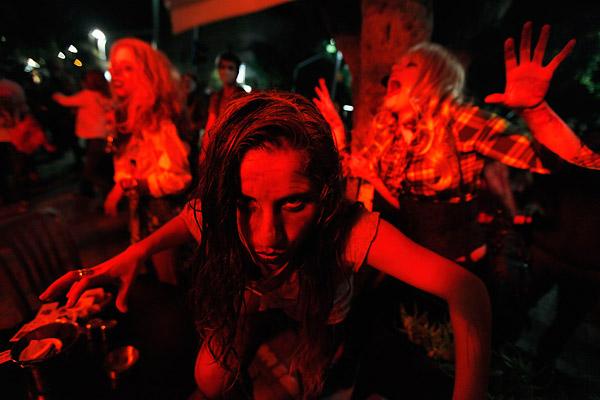 Purim Zombies Swarm Tel Aviv