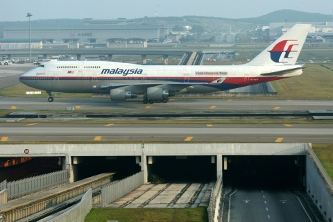 A Malaysian Airline System Bhd. (MAS) airplane prepares for