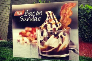 Burger King bacon sundae