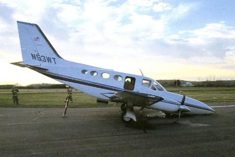 Passenger Lands Plane