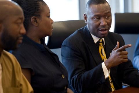 Parents of Trayvon Martin and attorney Benjamin Crump