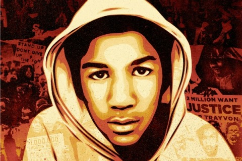 Shepard Fairey Creates Trayvon Martin Poster