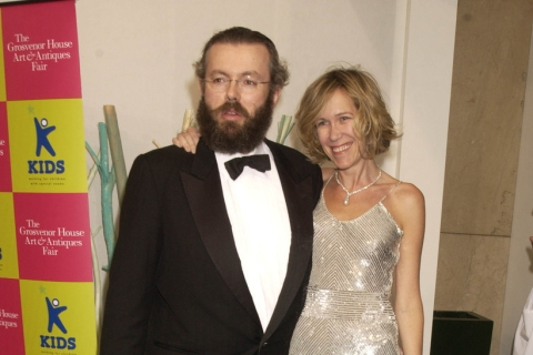 Hans Kristian Rausing and his wife Eva at a charity gala in 2003