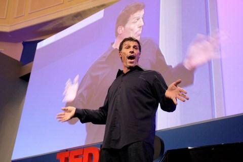 Motivational speaker Tony Robbins