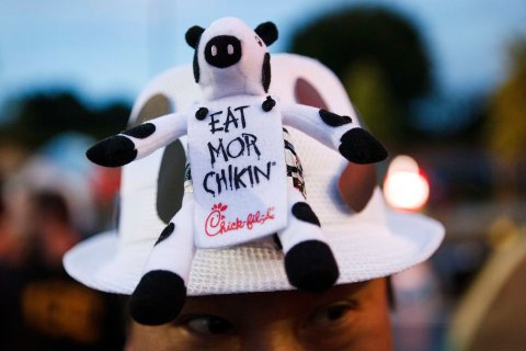 """Chick-Fil-A Customers Camp Out Ahead Of The """"First 100"""" Event"""