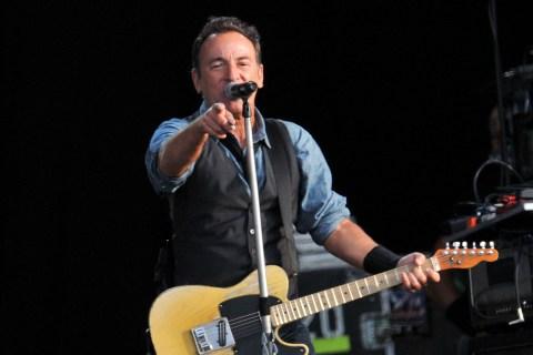 Bruce Springsteen performing at Hard Rock Calling at Hyde Park