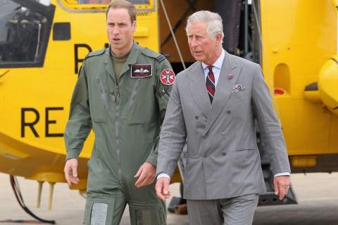 Prince William, Duke of Cambridge (L), a