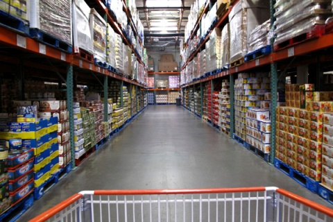 Costco warehouse shopping