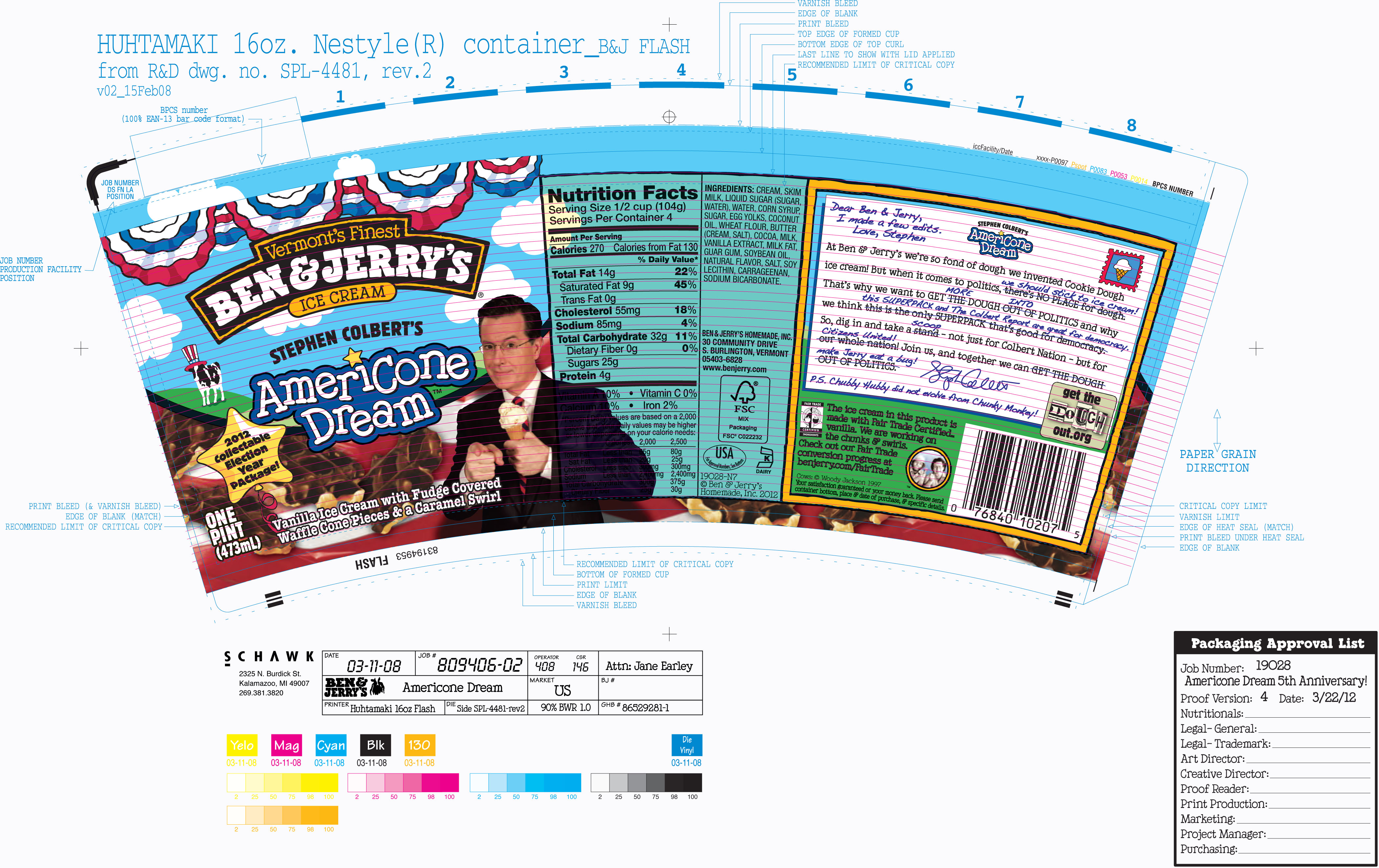 A Sneak Peek At The Election 2012 Edition Of Ben Jerry S Americone Dream Time Com What the churn is, their dream video game, and what comes after season 6. newsfeed
