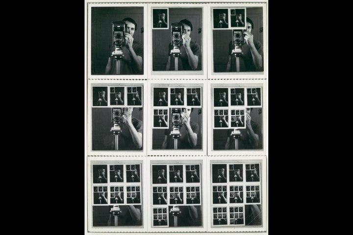 Nine Polaroid Photographs of a Mirror by William Anastasi, 1967