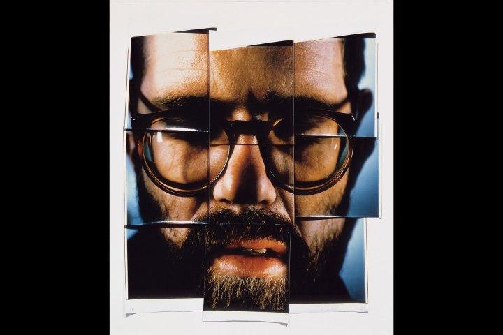 Self-Portrait/Composite/Nine Parts by Chuck Close, 1967