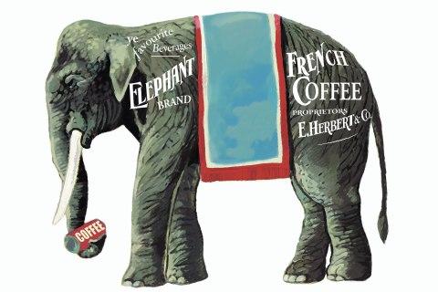 Image: United Kingdom - circa 1900: Elephant Brand French Coffee