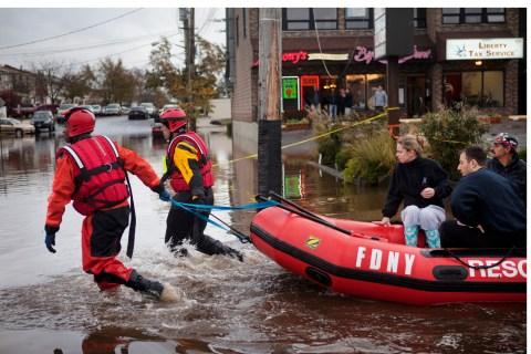 Rescue In The Wake Of Hurricane Sandy