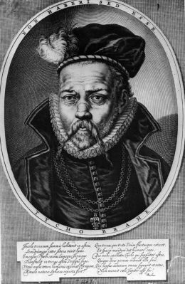image: Circa 1600, Tycho or Tyge Brahe ( 1546 - 1601) the Swedish-born Danish astronomer. He lost most of his nose at the age of 19 in a duel and for the rest of his life wore a false silver nose.