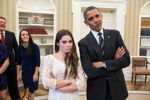 McKayla Maroney & Barack Obama