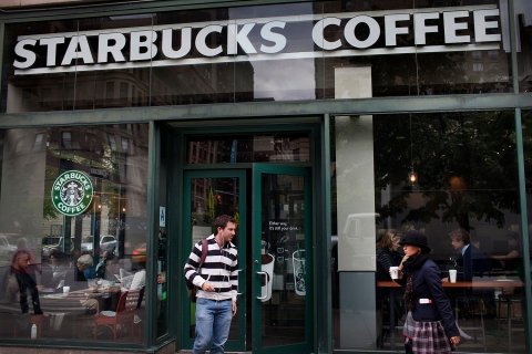 Starbucks storefront in New York