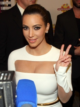 Image: Kim Kardashian poses during the opening of a branch of the American franchise 'Millions of Milkshakes' at the Avenues Mall in Kuwait City, Nov. 29, 2012.