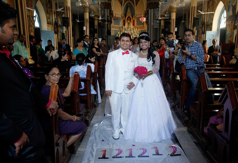 image: Brandon Pereira and Emilia D'Silva get married in Mumbai.