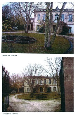 """Image: the south facade of the Chateau de Bellevue, completely bulldozed """"by mistake."""""""
