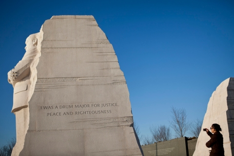 Wreath Laying Ceremony At Martin Luther King Jr. Memorial