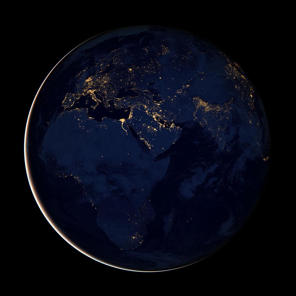 image: Earth at night
