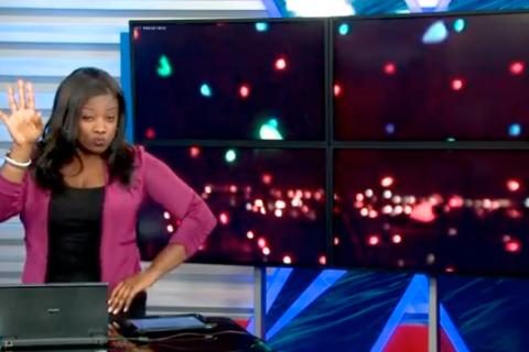 newscaster dancing to beyonce screengrab