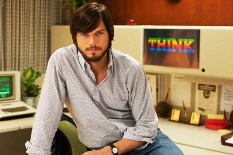 image: Ashton Kutcher as Steve Jobs in the film jOBS, which premiered at the Sundance Film Festival on January 25, 2013.