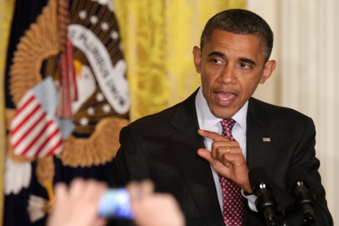 President Obama speaks speaks at a reception to observe LGBT Pride Month at White House