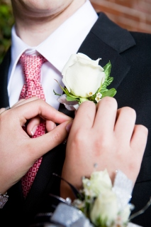 Pinning on Boutonniere