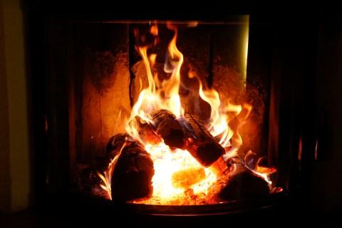 A fireplace is seen in Warngau near Munich