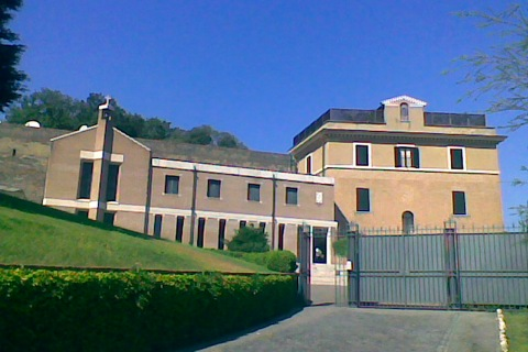 The convent from where Pope Benedict XVI will retire from March is seen at the Vatican