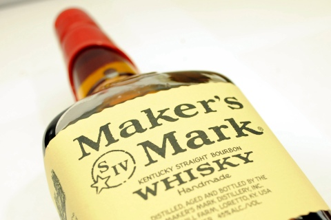 A bottle of Maker's Mark whiskey is pictured in New York